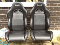 Black carrelli bucket seats