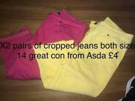 X2 LADIES CROPPED JEANS