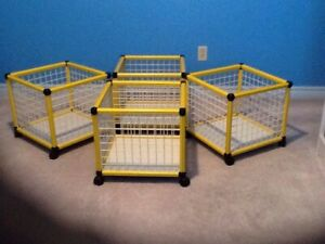 4 Baskets on wheel ( can be transform in shelving unit )