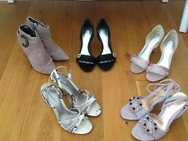 5 pairs of bourne designer shoes, sizes 37 - 38, all boxed some never worn