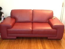 Leather Sofas 3 seater and 2 seater Southern River Gosnells Area Preview