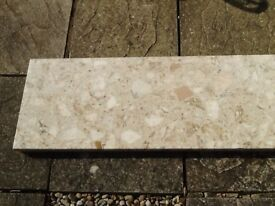 Marble effect fire hearth