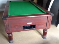 Slate bed 7ft X 4ft pool table, excellent condition, coin operated or freeplay, traditional style