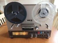 "Realistic TR-3000 7"" Stereo Reel-to-Reel Tape Deck + Assorted tapes"