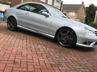Mercedes CLK diesel AMG sport, 2007, 82k, wheels just refurbed, recent full service, rare fast car