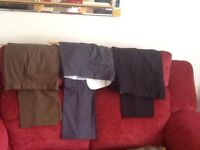Three pairs of trousers new condition