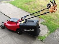 Mountfield electric lawnmower with grass box