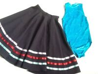 Tap and jazz leotard with character skirt