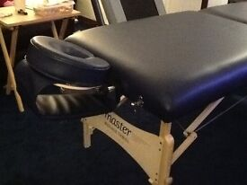 PORTABLE MASSAGE/BEAUTY TABLE, NEVER USED WITH CARRY CASE