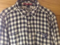 Superdry Mens Large casual shirt long sleeve Check Jersey Lumber Working