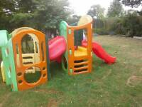 Little tykes climber with slides and tube excellent cond