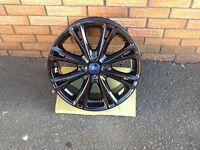 Gloss black alloy wheels 17inch