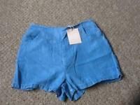 Brand new women's blue shorts size 10