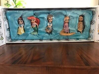 Disney Animators' Collection Set of 5 Ornaments - NEW