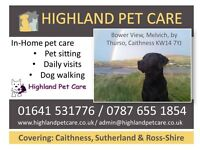 Pet Sitting in Caithness, Sutherland & Ross-shire. Pet sitter, Highlands