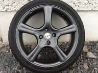 17INCH 4/100 FOX ALLOY WHEELS WITH TYRES FIT VAUXHALL ROVER TOYOTA RENAULT SUZUKI ETC
