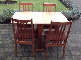 Legate gateleg table & 4 chairs