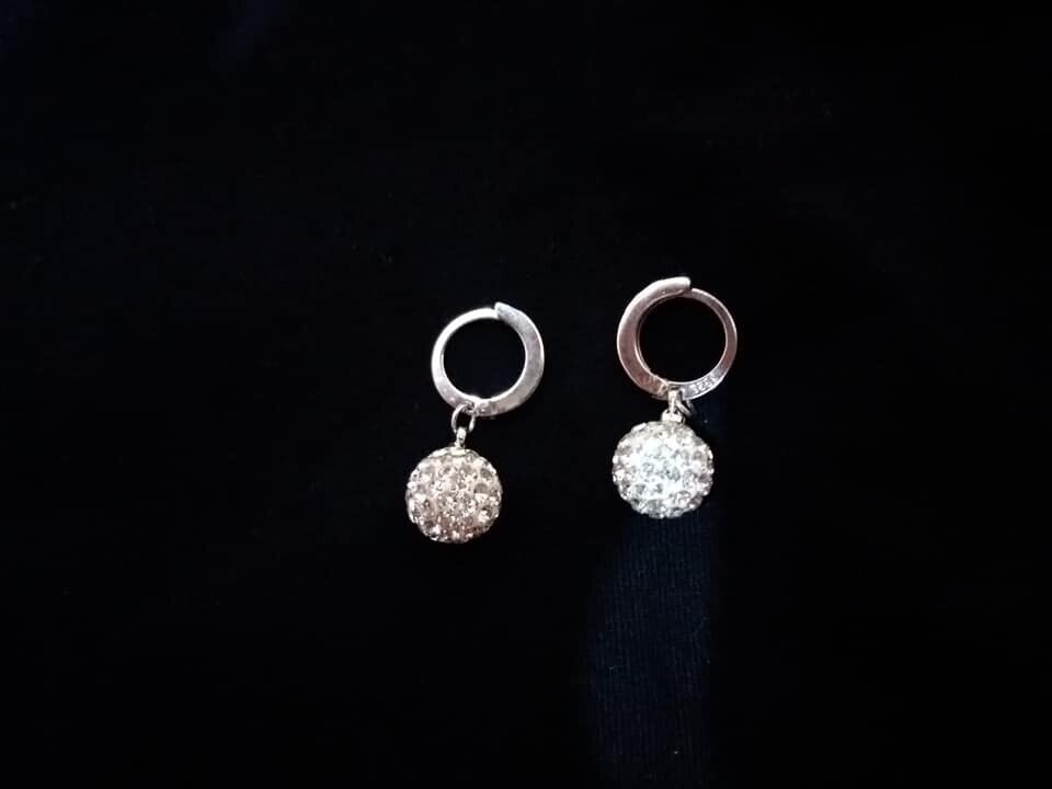 a02786658 Sterling Silver 925 Crystal Ball Earrings | in Clacton-on-Sea, Essex ...