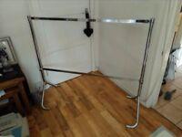 chrome sturdy retail clothes rails