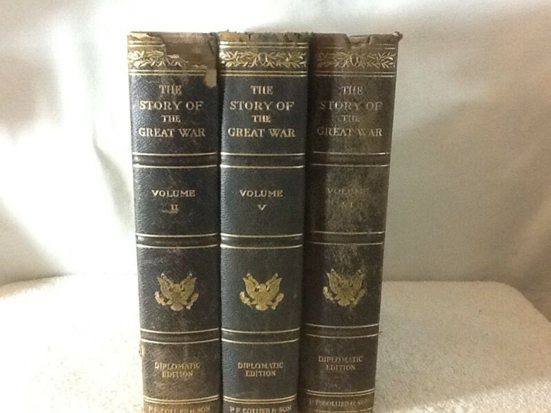 THE STORY OF THE GREAT WAR (WW1) hard cover book Vol 2 5 6 of 6 Vol set