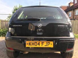 2004 VAUXHALL CORSA 1.4 AUTOMATIC BLACK 3 DOOR