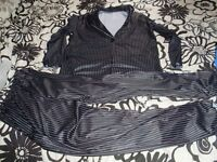 STRIPED FANCY DRESS SUIT GREAT FOR GOMEZ ADDAMS FAMILY /JACK NIGHTMARE BEFORE CHRISTMAS SZIE M/L