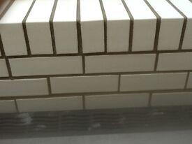 white bricks, new