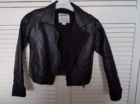 Girls Cherokee Leather Jacket 7-8 years excellent condition