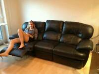 Black sofa x2