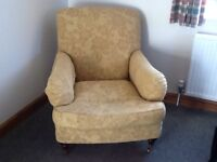 Gold M&S Howard style wing chair