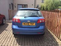 CHEVROLET, LACETTI, 19 August 2008, Petrol 1598cc 5 doors . Very Low Mileage( 55102 ), 6 Stamps