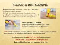 REGULAR SERVICE AND DEEP CLEANING