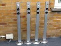 4 x floor standing speakers