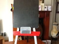 Child's blackboard and easel with extras