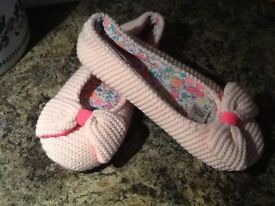 Marks & Spencer pink girls/ ladies slippers size 2