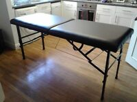 Black Leather Massage Table