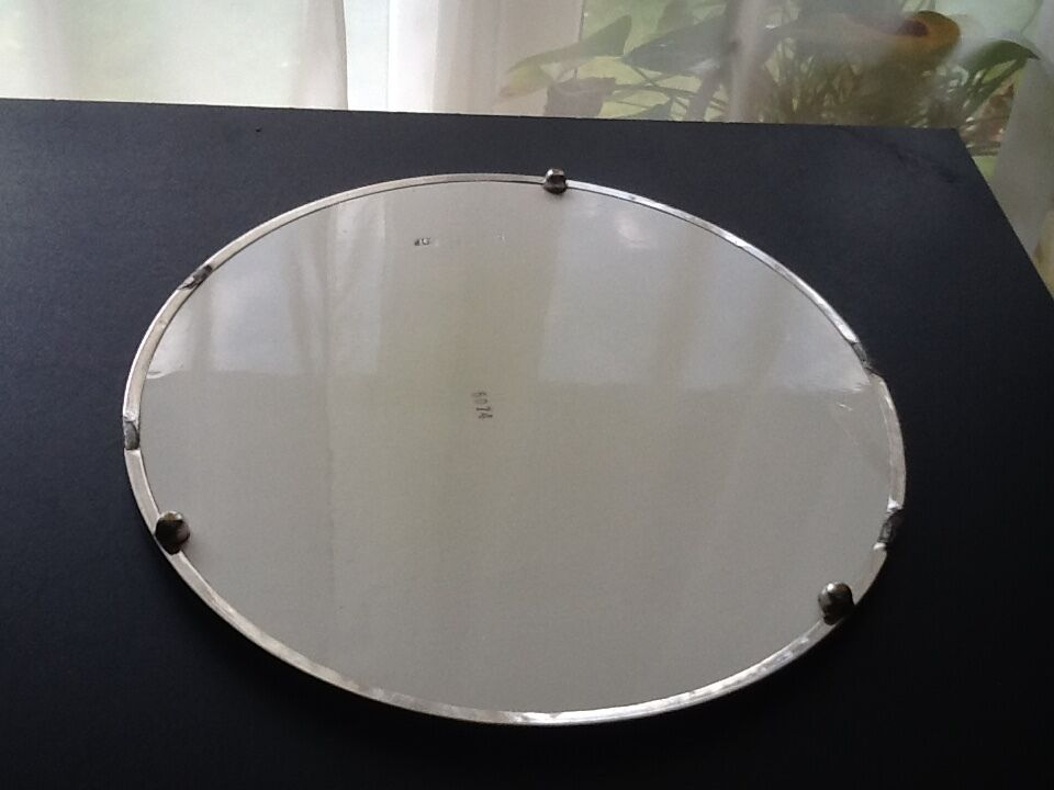 k seplatte porzellan keramik mit metallrand 50 60er shabby. Black Bedroom Furniture Sets. Home Design Ideas