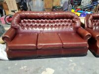 Chesterfield Style sofa and armchairs