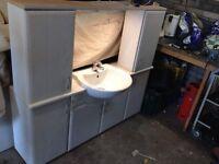 Bathroom Units and Sink