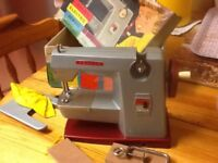 CHILDS ELECTRIC SEWING MACHINE, vintage toy made by Vulcan classic
