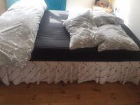 double bed base and double orthopaedic mattress