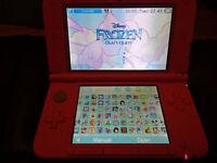 Pink 3DS XL with 144 Mostly Girlie 3DS Games Worth £1,650 - Disney/Barbie/Mario/Pokemon/Zelda etc