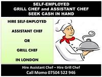 Hire Self-Employed Grill Chef or Assistant Chef 4 restaurant or takeaway with NO agency FEE, HIRE ME