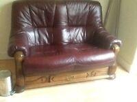 Leather sofas 3x2xstool