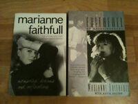 2 Marianne Faithful Autobiography Books - Faithfull & Memories, Dreams & Reflections