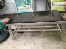 Coffee Table - Metal and Glass(Reduced Price)