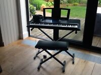 Yamaha PSR E333 Electric Keyboard with Stand, Stool and Headphones