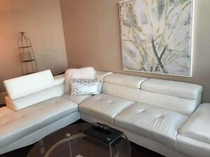 White sectional for sale!