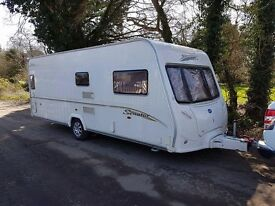 2007 Bailey Senator Indiana 4 berth caravan FIXED BED, MOTOR MOVER, VGC, Awning!