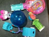 Zhu Zhu pets hamster car and caravan, ball, pushchair and delux play centre